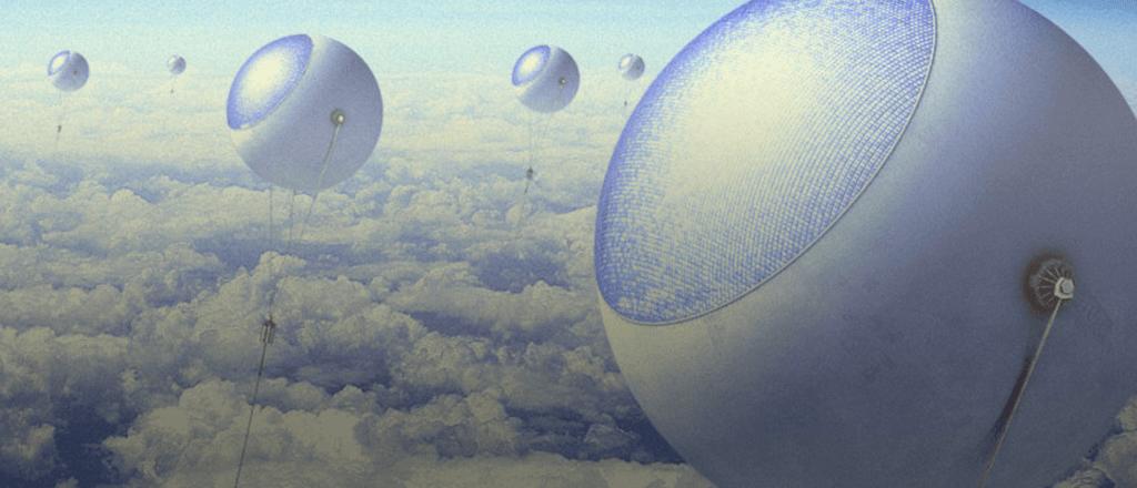 Innovación en energía: Globos captarán sol sobre las nubes